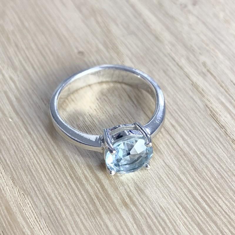 Серебряное кольцо SilverBreeze с натуральным топазом 2.913ct (1077948) 17 размер
