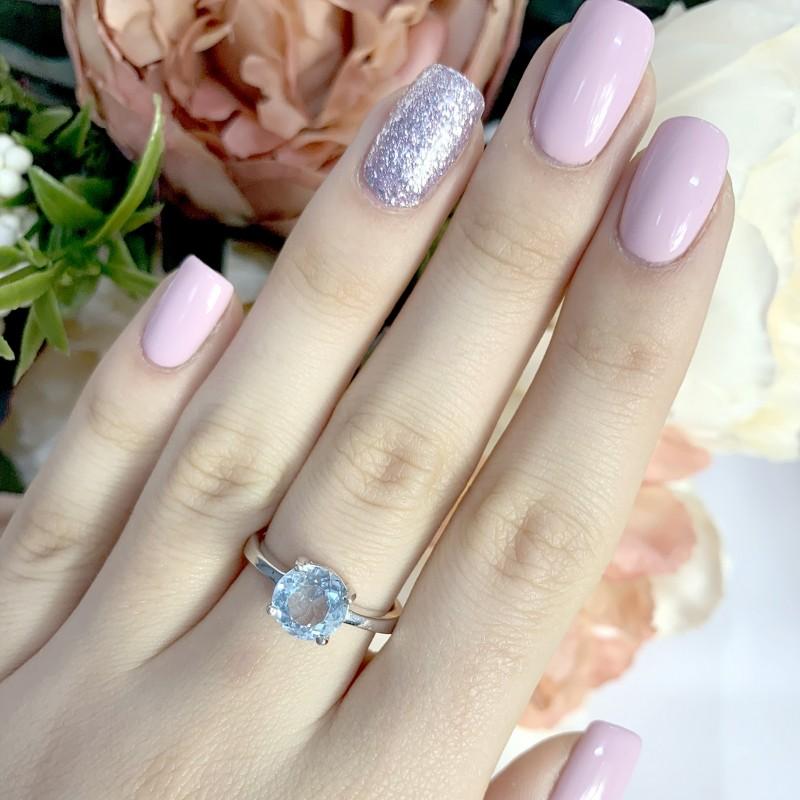 Серебряное кольцо SilverBreeze с натуральным топазом 2.913ct (1077948) 18 размер