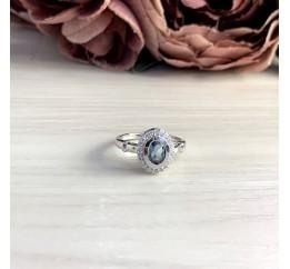 Серебряное кольцо SilverBreeze с натуральным топазом Лондон Блю 0.86ct (1073674) 18 размер