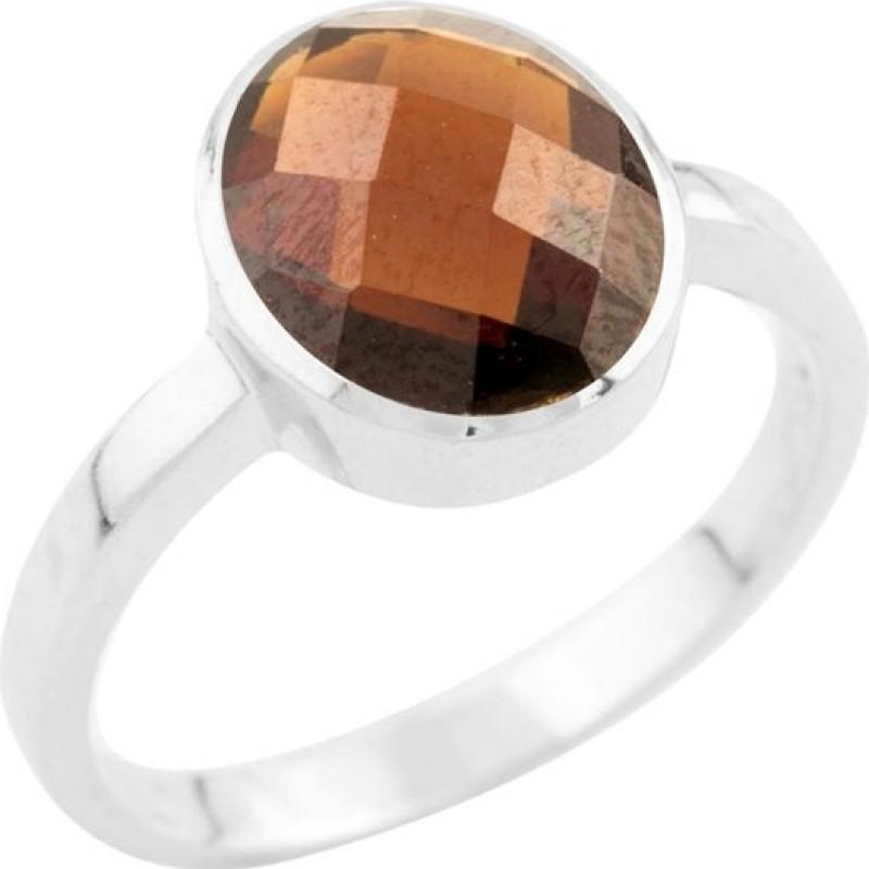 Серебряное кольцо SilverBreeze с натуральным гранатом (0948904) 17 размер