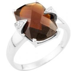 Серебряное кольцо SilverBreeze с натуральным гранатом (0948621) 17.5 размер