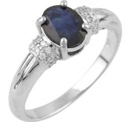 Серебряное кольцо SilverBreeze с натуральным сапфиром 1.24ct (0876498) 17 размер