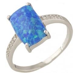 Серебряное кольцо SilverBreeze с опалом 1.76ct (0703916) 17 размер