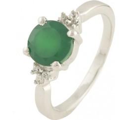 Серебряное кольцо SilverBreeze с натуральным агатом (0573854) 18 размер