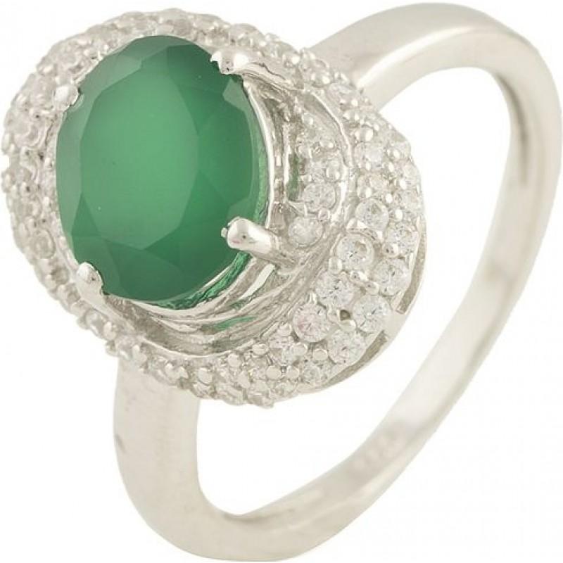 Серебряное кольцо SilverBreeze с натуральным агатом (0572536) 16.5 размер