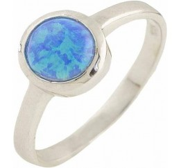 Серебряное кольцо SilverBreeze с опалом 0.375ct (0566979) 16.5 размер