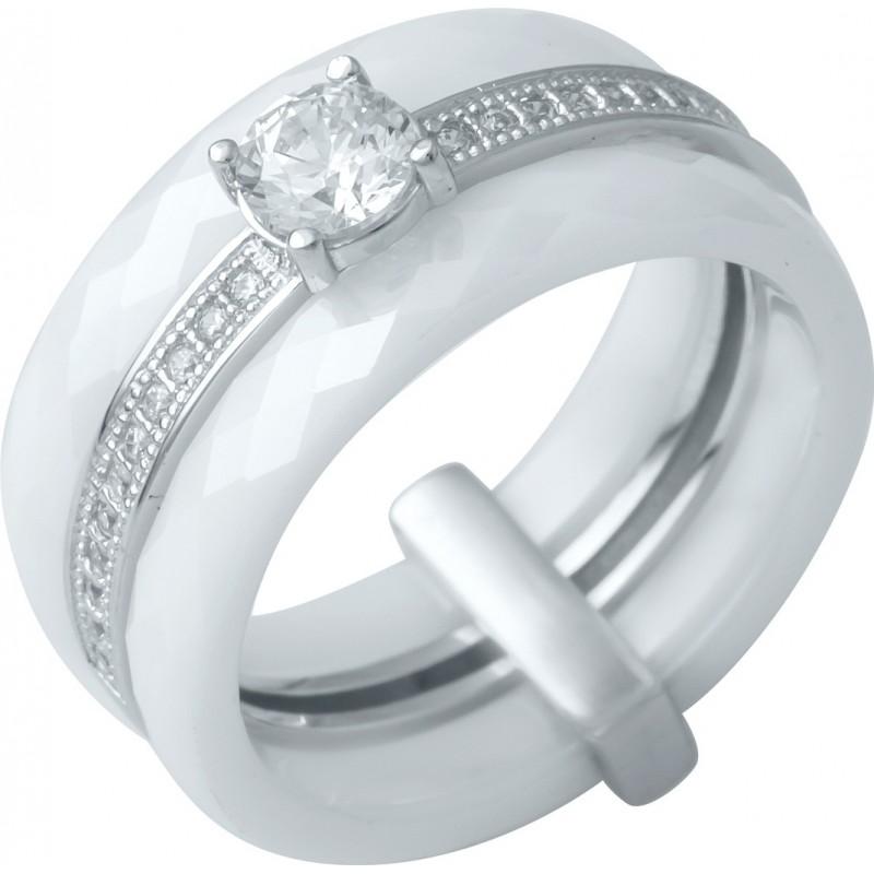 Серебряное кольцо SilverBreeze с керамикой (0481630) 17.5 размер