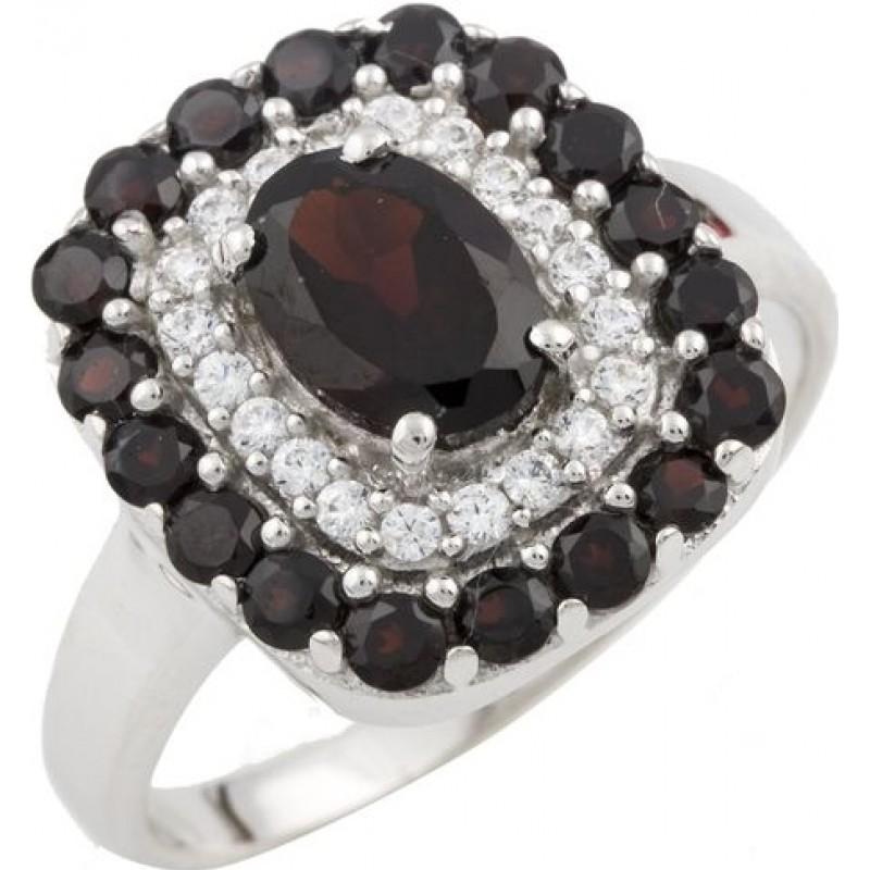 Серебряное кольцо SilverBreeze с натуральным гранатом 1.74ct (0477565) 17.5 размер
