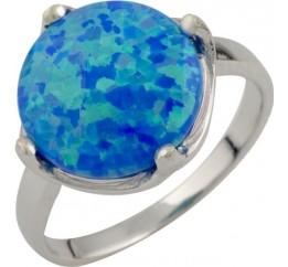 Серебряное кольцо SilverBreeze с опалом (0474373) 17.5 размер