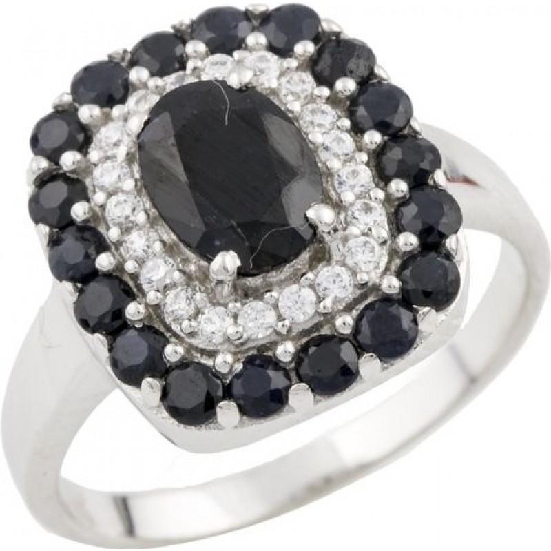 Серебряное кольцо SilverBreeze с натуральным сапфиром 1.898ct (0468877) 18 размер