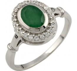 Серебряное кольцо SilverBreeze с натуральным изумрудом 0.77ct (0466521) 17.5 размер