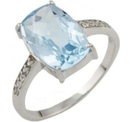 Серебряное кольцо SilverBreeze с натуральным топазом 3.82ct (0461755) 17.5 размер
