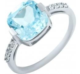 Серебряное кольцо SilverBreeze с натуральным топазом 3.968ct (0461694) 17 размер