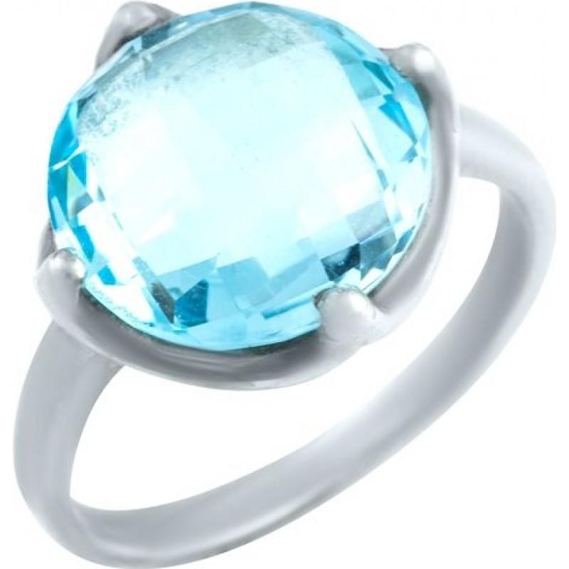 Серебряное кольцо SilverBreeze с натуральным топазом 6.875ct (0461489) 18 размер