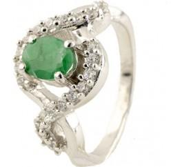 Серебряное кольцо SilverBreeze с натуральным изумрудом (0275383) 16 размер