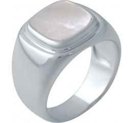 Серебряное кольцо SilverBreeze с натуральным перламутром (2046844) 16.5 размер