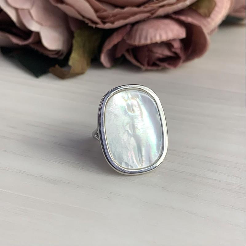 Серебряное кольцо SilverBreeze с натуральным перламутром 5.625ct (2041795) 18.5 размер