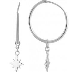 Серебряные серьги SilverBreeze без камней (2005759)