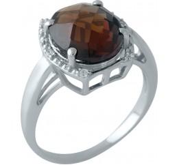 Серебряное кольцо SilverBreeze с натуральным гранатом (1996737) 18 размер