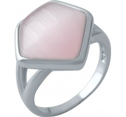 Серебряное кольцо SilverBreeze с кошачим глазом (1974261) 18 размер