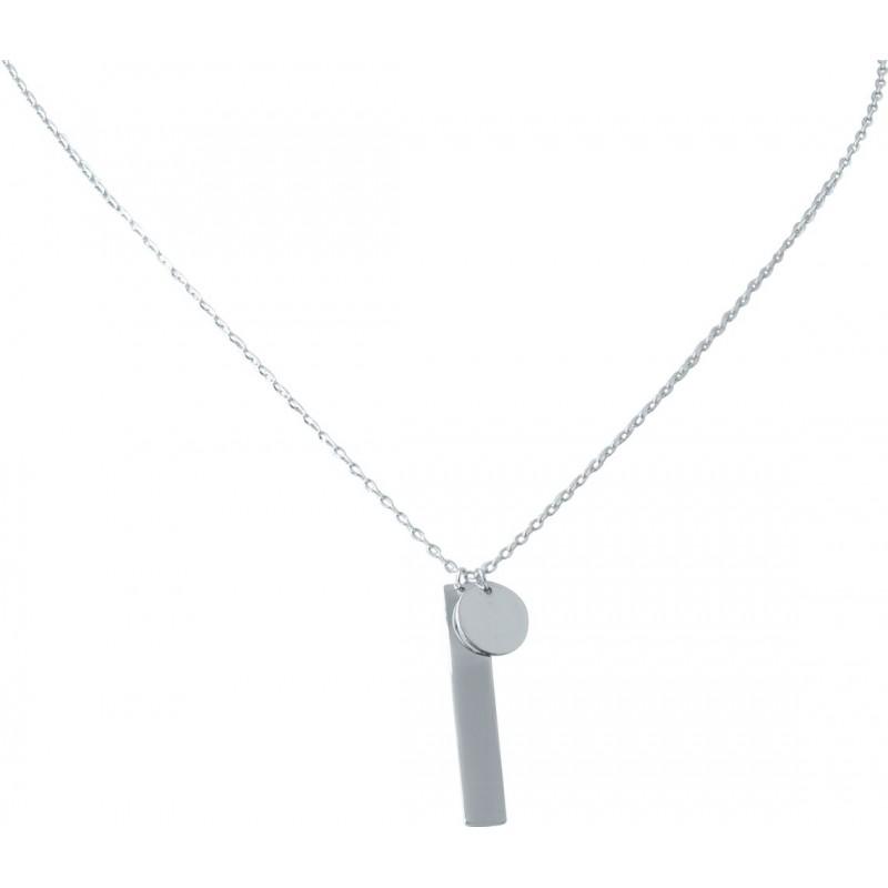 Серебряное колье SilverBreeze без камней (2023036) 400450 размер