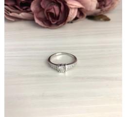 Серебряное кольцо SilverBreeze с натуральными бриллиантом 0.03ct (2074694) 17.5 размер