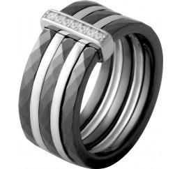 Серебряное кольцо SilverBreeze с керамикой (2070047) 16.5 размер