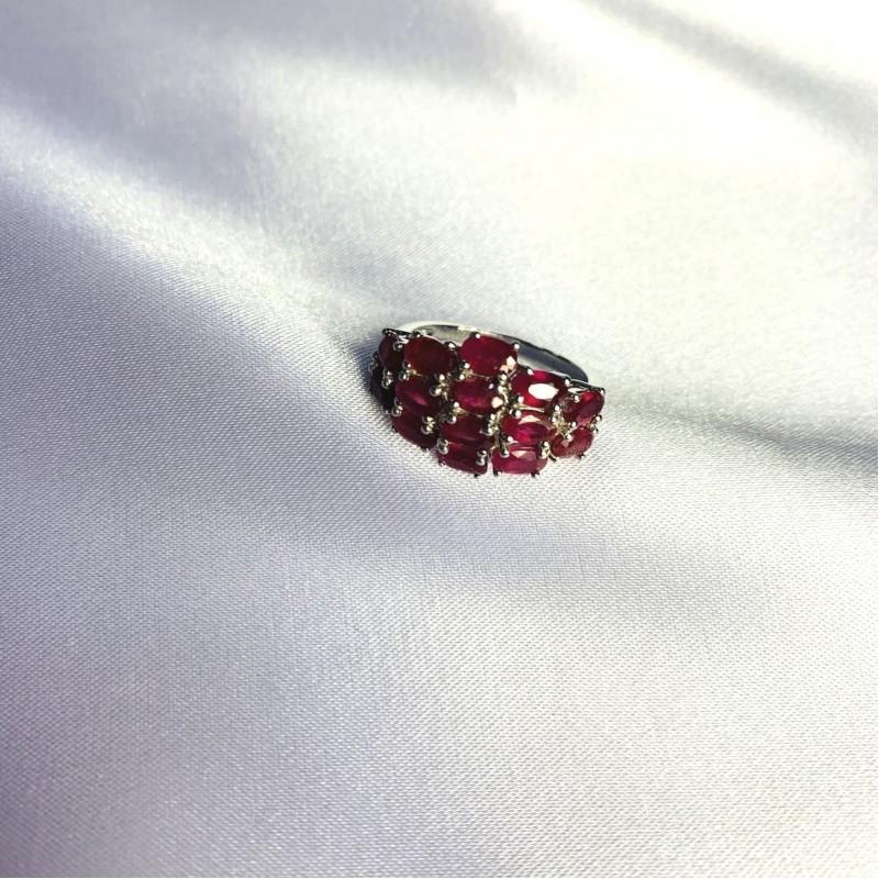 Серебряное кольцо SilverBreeze с натуральным рубином 4.658ct (2057901) 18.5 размер