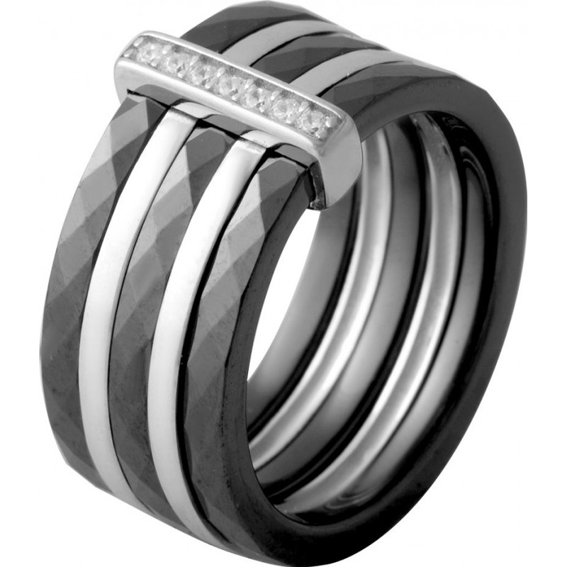 Серебряное кольцо SilverBreeze с керамикой (2070047) 18 размер