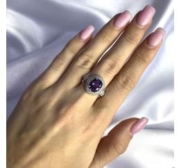 Серебряное кольцо SilverBreeze с александритом 4.66ct (2057475) 18 размер
