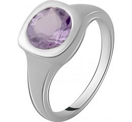 Серебряное кольцо SilverBreeze с натуральным аметистом 1.653ct (2065746) 16.5 размер