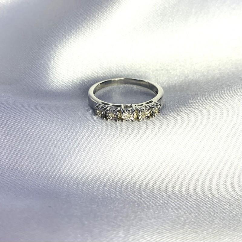 Серебряное кольцо SilverBreeze с натуральными бриллиантом 0.05ct (2064220) 18 размер