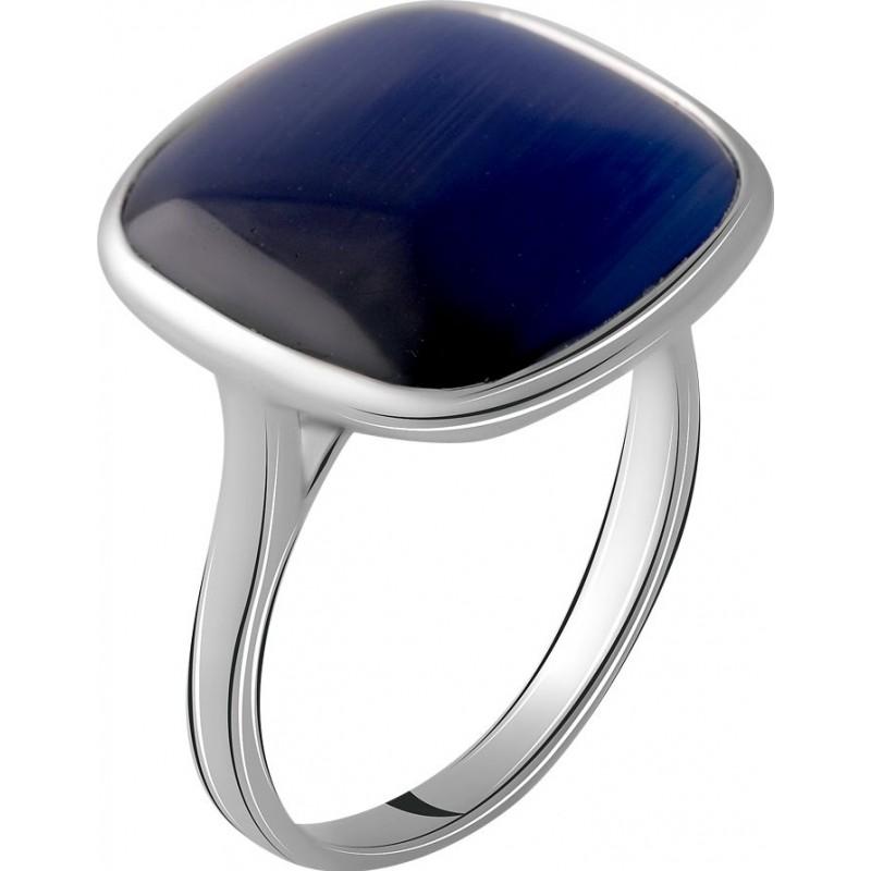 Серебряное кольцо SilverBreeze с кошачим глазом (2064107) 17 размер