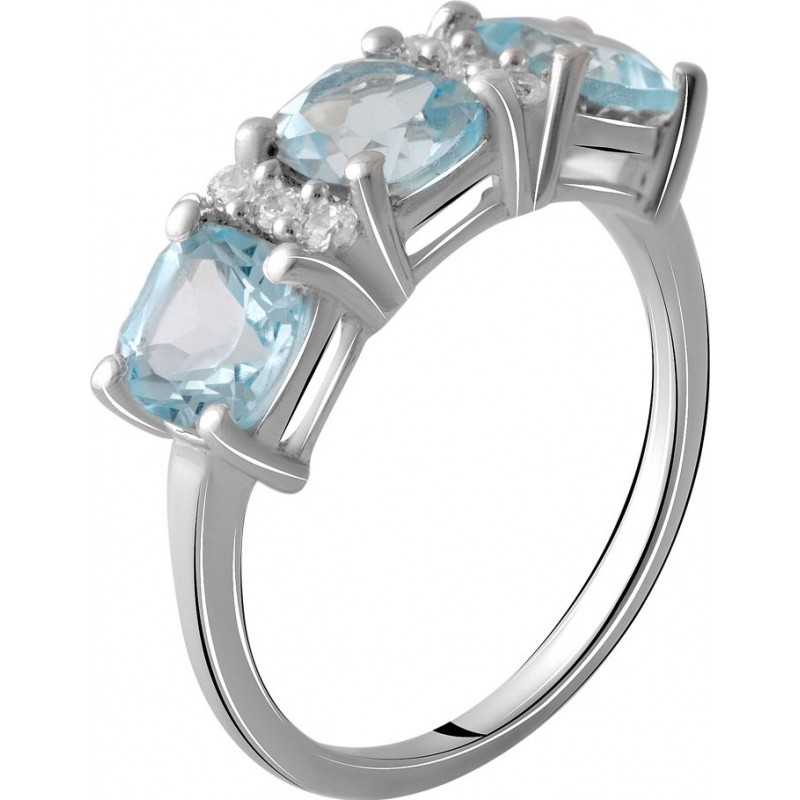 Серебряное кольцо SilverBreeze с натуральным топазом 4.075ct (2059134) 17 размер