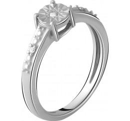 Серебряное кольцо SilverBreeze с натуральными бриллиантом 0.027ct (2048565) 16.5 размер