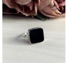 Серебряное кольцо SilverBreeze с натуральным ониксом (2044482) 18.5 размер