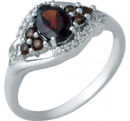 Серебряное кольцо SilverBreeze с натуральным гранатом 1.54ct (1940808) 18 размер