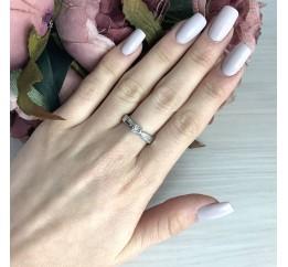 Серебряное кольцо SilverBreeze с натуральными бриллиантом 0.03ct (2074670) 17.5 размер
