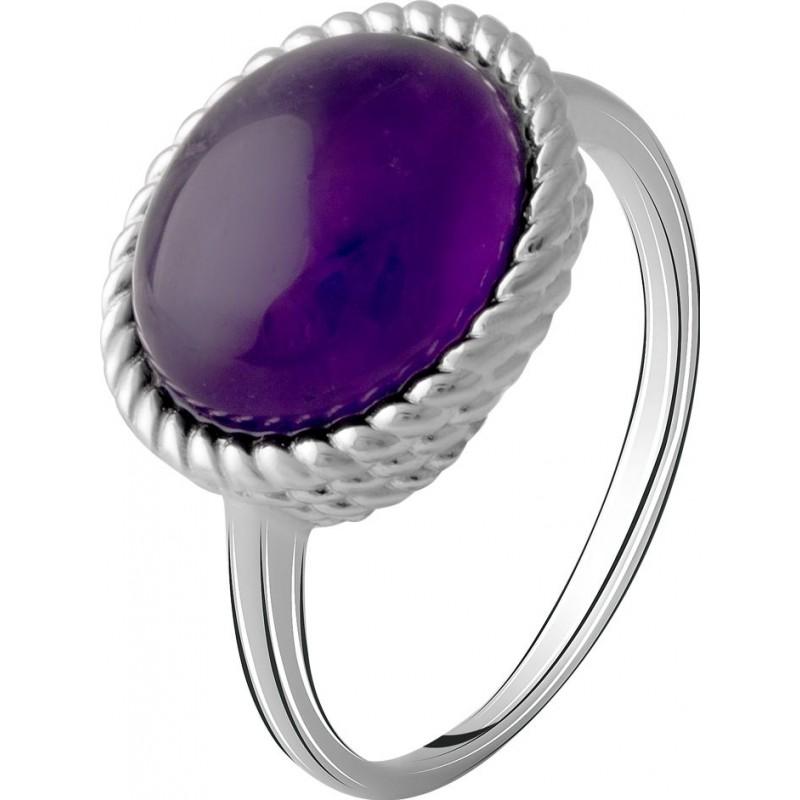 Серебряное кольцо SilverBreeze с натуральным аметистом 4.163ct (2072249) 17 размер