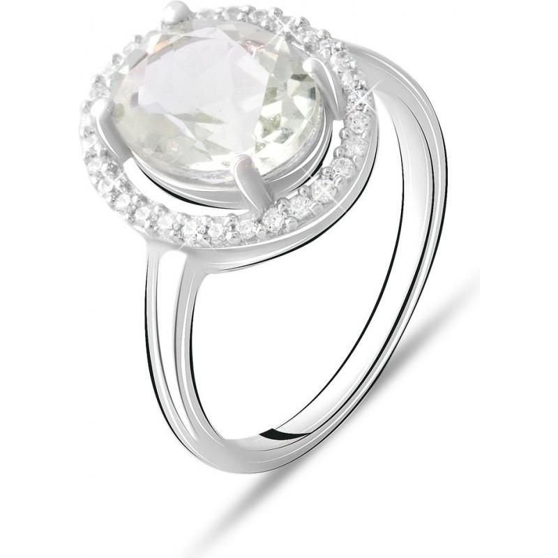 Серебряное кольцо SilverBreeze с натуральным зеленим аметистом 2.225ct (2070771) 18.5 размер