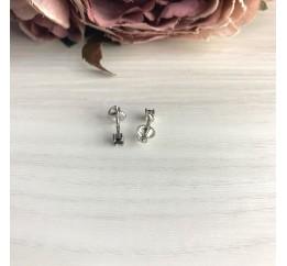 Серебряные серьги SilverBreeze с фианитами (2069430)