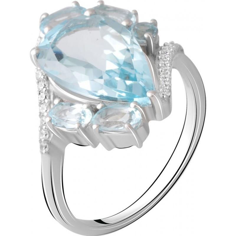 Серебряное кольцо SilverBreeze с натуральным топазом 2.621ct (2065487) 17 размер