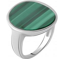 Серебряное кольцо SilverBreeze с малахитом (2064084) 18 размер
