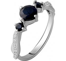 Серебряное кольцо SilverBreeze с натуральным сапфиром 1.62ct (2061168) 18.5 размер