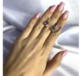 Серебряные серьги SilverBreeze с натуральным аметистом 3.325ct (2060604)