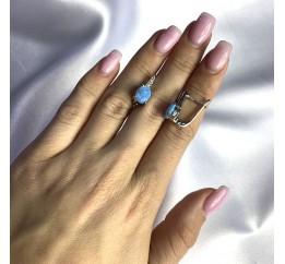 Серебряные серьги SilverBreeze с опалом 1.665ct (2060345)