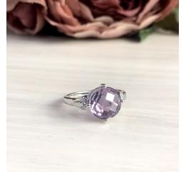 Серебряное кольцо SilverBreeze с натуральным аметистом 3.16ct (2048619) 17 размер