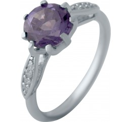 Серебряное кольцо SilverBreeze с александритом 2.61ct (2043362) 17.5 размер