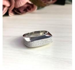 Серебряное кольцо SilverBreeze с фианитами (2031482) 18 размер