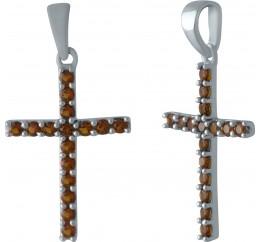 Серебряный крестик SilverBreeze с гранатом 0.815ct (1998892)